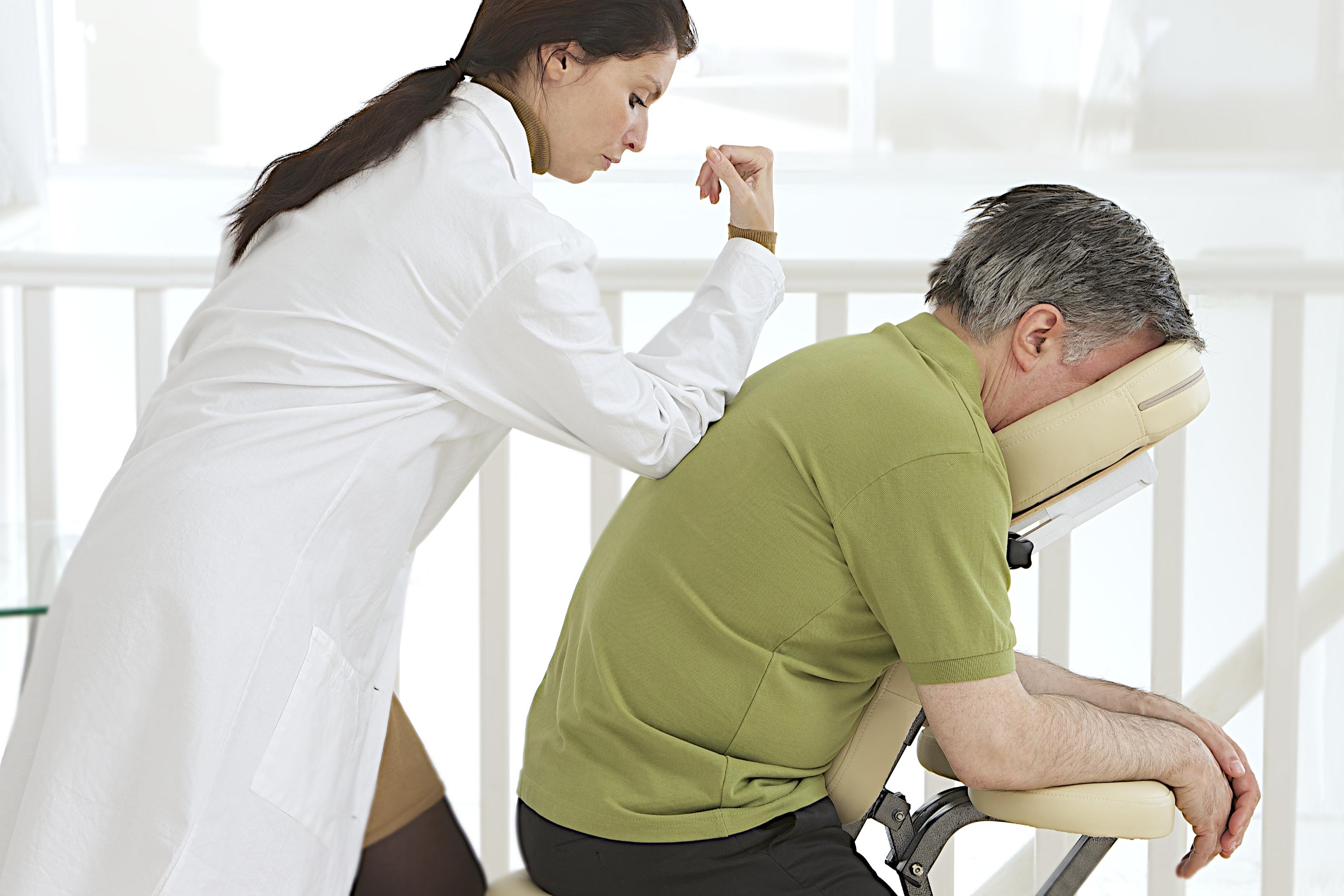 Energimassage, sittande massage